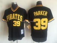 Men's Pittsburgh Pirates Dave Parker Mitchell & Ness Black Mesh Throwback Batting Practice Jersey