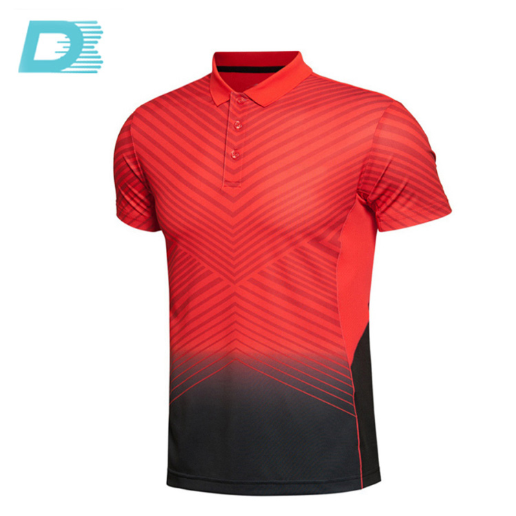 Custom Sublimation Online Shopping India Men's Striped Polo T Shirts