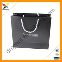Luxury wine paper bag shopping with logo printing, low price