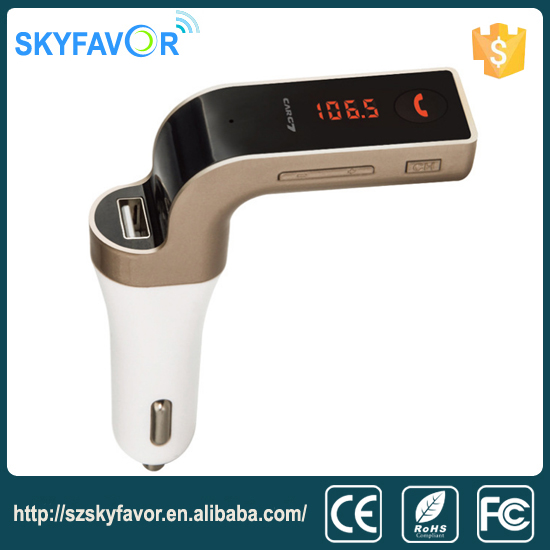 Multi-function Support TF Card U disk & Line-in AUX Bluetooth mp3 player USB Car charger