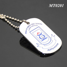 Ghana Custom Benkum Senior High School Tag Engraved Logo Zinc Alloy Enamel Metal Souvenir Custom Necklace