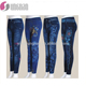 hole for sexy women's slim leggings jean japanese fitness pants seamless printings leggings