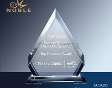 New Design Diamond Crystal Clear Award Plaques For Top Sales