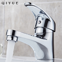 Bathroom sanitary ware chrome finish single lever cold water brass basin faucets taps