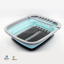 2018 Large Storage Collapsible Dish Drying Rack with Snap-on Drain Board