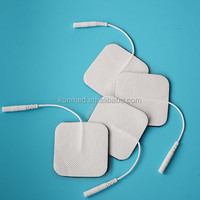 5*5cm square shape size TENS massager replacement unit electrode pad strong sticky