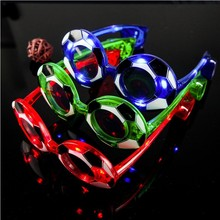 4pcs color football LED glasses