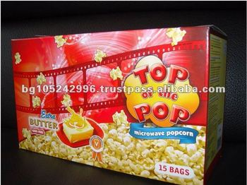 Microwave Popcorn Top of the Pop Display Box Extra Butter