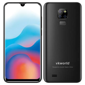 "Branding Android Smartphone Vkworld SD200 6.3"" 3200mAh 3g+32G cell phone OEM/ODM Phone Fingerprint Unlock Cell Phone-BLACK"