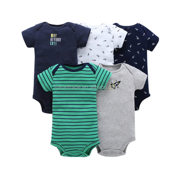 Supplier baby boy romper clothing sets with 100% organic cotton