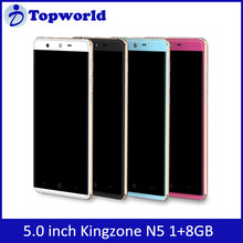 low price china mobile phone KINGZONE N5 5.0 inch Android 5.1 MTK6735P quad Core 1.0Ghz 8GB ROM 8MP KINGZONE Phone