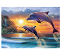 wholesale price diamond painting Jumping dolphins diamond embroidery kit diy crystal diamond painting wall decor craft