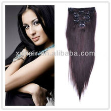100% human hair kinky hair clip on extensions for black women