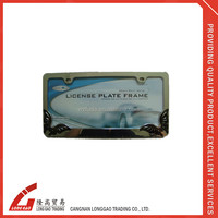 Hot sales blank license plate frame USA license plate frame car license plate frame for car by chrome finished