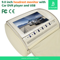 Vehicle back seat 7 inch headrest car dvd player with zipper