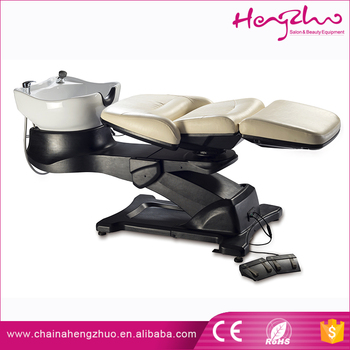 Electric backwash hair washing chair 90 degree rotation for 90 degrees salon