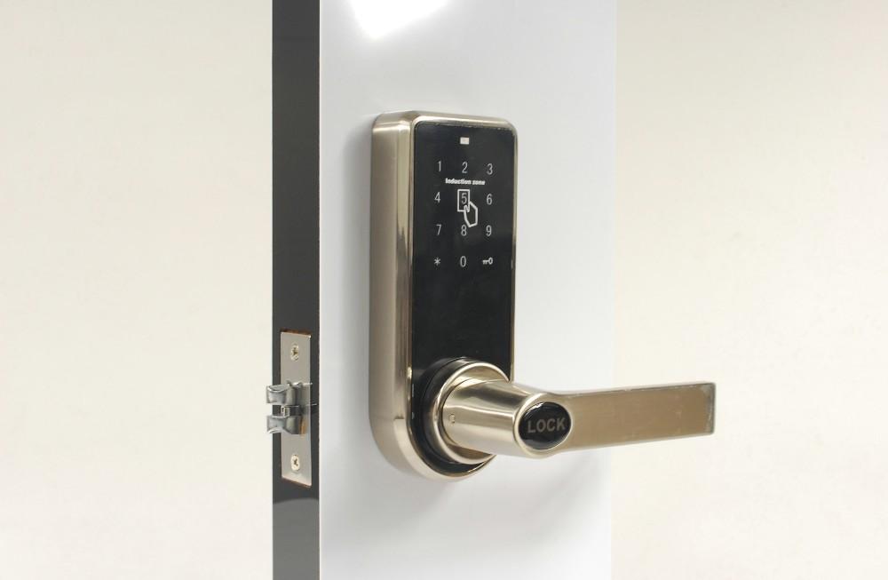 Ospon touch screen code door lock silver color buy for 1 touch door lock