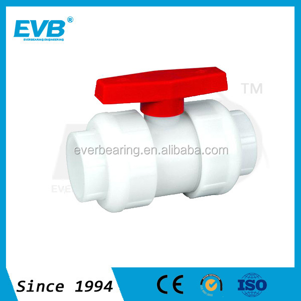 PVC Double Unoin Ball Valve, Plastic Socket Ball Valve