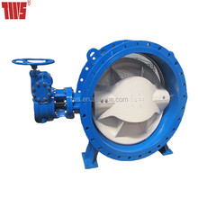 resilient seated double eccentric flanged butterfly valve