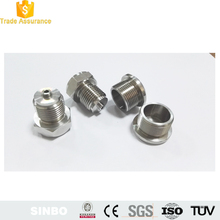 CNC machining fabrication stainless steel hex male pipe threaded end cap
