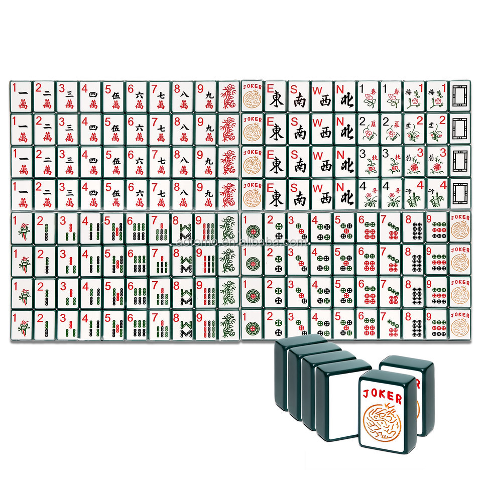 Custom engraved enrobed mahjong set