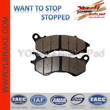 ATV/racing motor/motorcycle Brake pads without asbestos for PCX 135,Performance quality copper base/sinter motorcycle brake pad