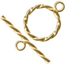 13mm Gold Filled Twist Toggle Clasp