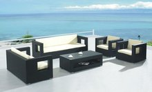 Grenada synthetic rattan sectional outdoor sofa set FWC-201