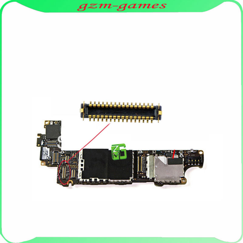 For iPhone 4S Back Rear Camera FPC Plug Connector Port for Mainboard