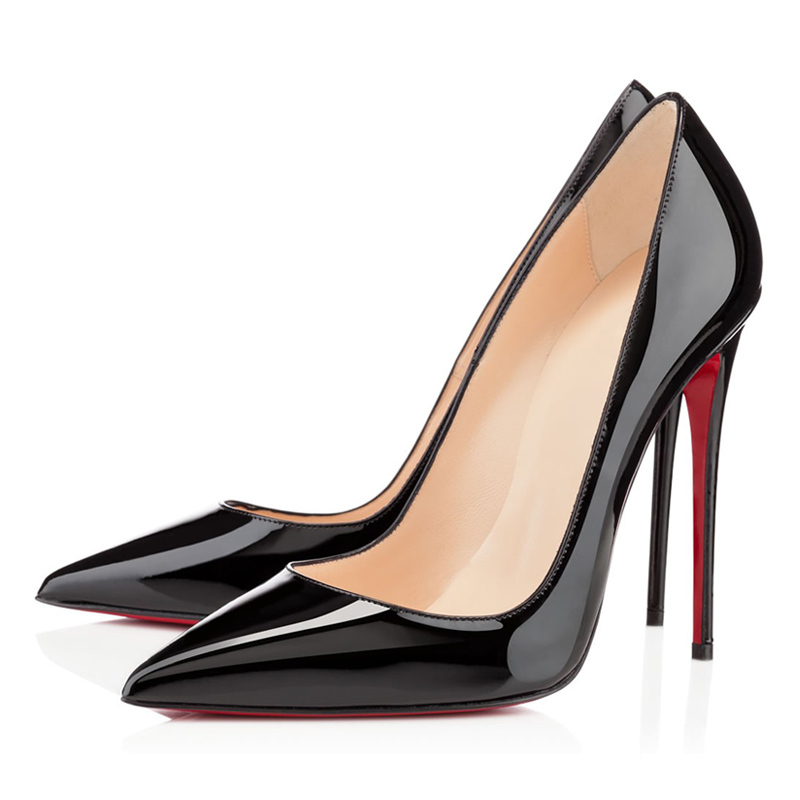 Get Quotations · 5 Colors Big Size Women Pumps Sexy Red Bottom Pointed Toe  High Heels Shoes Woman 2014 92ff8961e38d