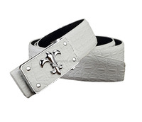 high quality fashion genuine plain belts for men with auto buckle
