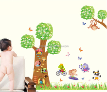 PVC Home Decor Cartoon Character Wall Stickers