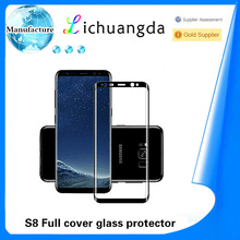 9H 3D full cover tempered glass screen protector for samsung S8 S8 plus