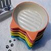 Wholesale cute printing color glaze ceramic dog/cat pet food bowl