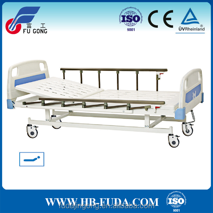 China furniture for disabled people 1 crank semi-flower manual hospital trolley bed