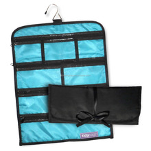 Jewelry Roll Bag Travel & Home Organizer Safe Zippered 7 Compartments Large