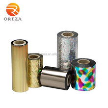 Gold or silver color fabric hot stamping foil
