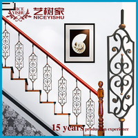 Hot selling aluminum handrailing indoor ornamental/handrail bracket for wholesales decorative wrought iron hand-railing