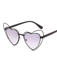 2018 hot selling and high quality cat eye heart shaped womens sunglasses trendy with your logo