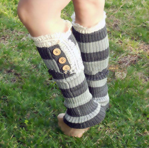 2015 new season new design pelerine lace knee high grey lady socks