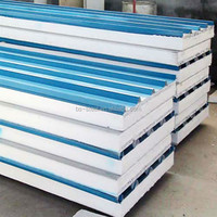 Soundproof insulated Eps foam sandwich panel/polystyrene Sandwich Panel/wall And roof Eps sandwich panel