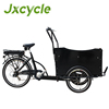 3 wheel family high quality cargo bike electric tricycle/Tricycle Cargobike for pessenger