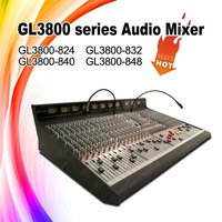 dj music mixer,24 channel Digital Audio Console for Broadcast studio