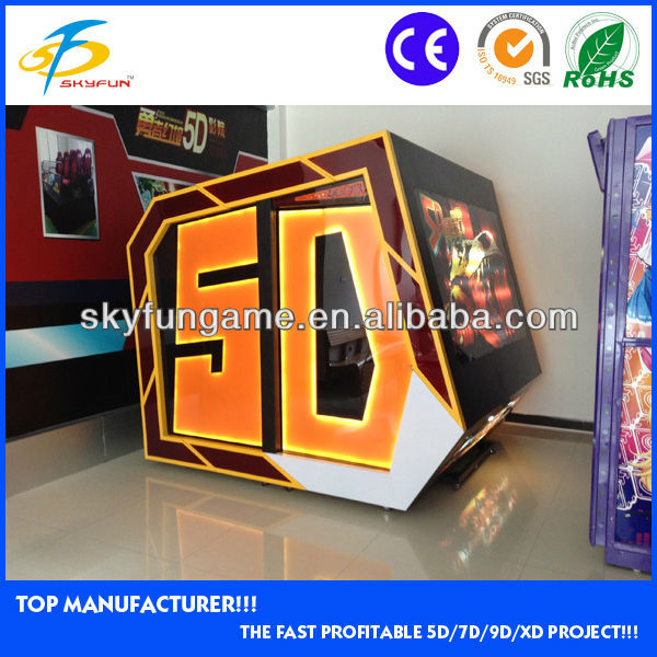 hottest canton fair coin operated automatic 5d mini cinema theater movie in alibaba for sale
