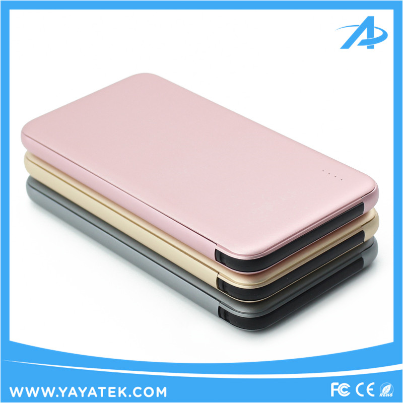Mobile Ultra Slim High Quality Aluminum Alloy Power Bank, Super Capacity 5000mah, Smooth Edge, Stand Out from Competition