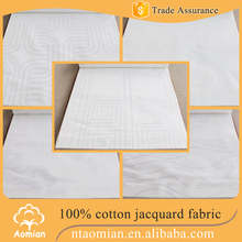 polyester cotton tc jacquard pillow cover fabric for pillow