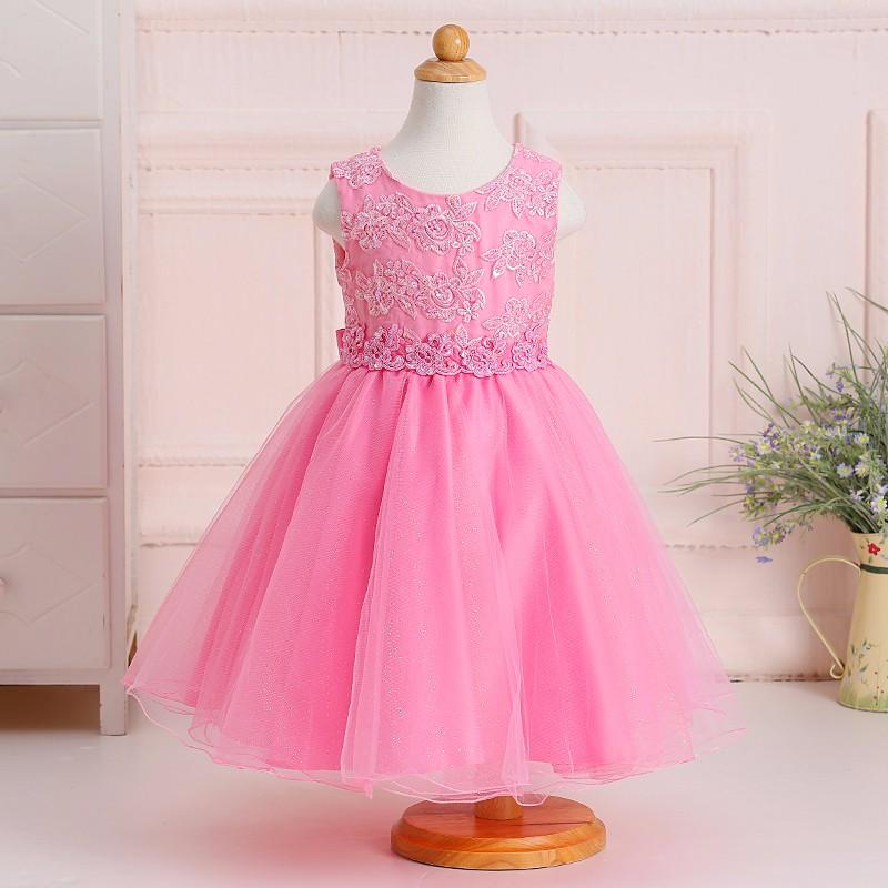 Últimos diseños de la dama de honor vestidos niñas vestido nuevo ...