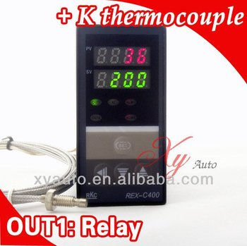 Dual Digital PID Temperature Controller with thermocouple K, Relay Output