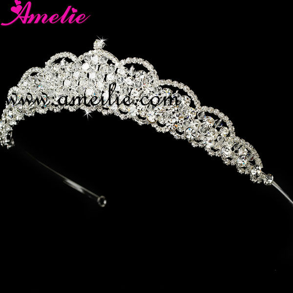 Rhinestone and crystal Cheap wholesale crowns and tiaras