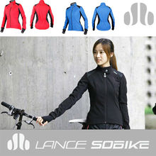stock women fashion slim style for cyclist autumn and winter themal material ciclismo roupa cycling jacket